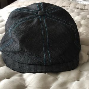 Pistil newsboy cap, dark indigo denim